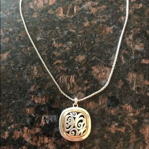 BRIGHTON SPIN MASTER TWO TONE REVERSIBLE NECKLACE